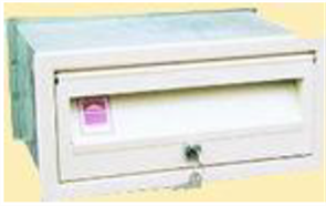 LETTERBOX No 2 FRONT OPENING - 245mm