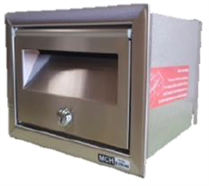 LETTERBOX No 1 FRONT OPENING STAINLESS STEEL
