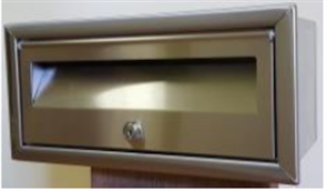 LETTERBOX No 2 FRONT OPENING STAINLESS STEEL