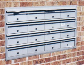 LETTERBOX EXTRUDED ALUMINIUM BANKS - ALTONE URBAN