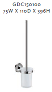 SWIFT WALL TOILET BRUSH & HOLDER GLASS