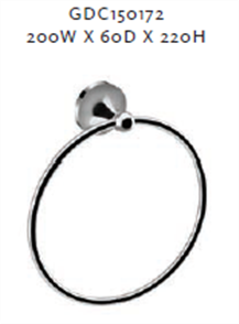 SWIFT TOWEL RING 200X220MM