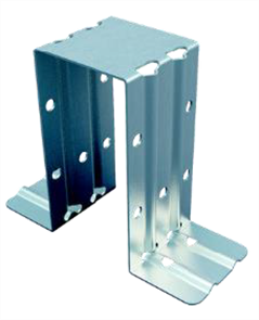 BOXSPAN  TOP HAT DOUBLE BRACKET GALVANISED