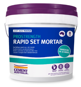 MORTAR RAPID SET BUCKET 8kg