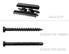 SCREWS DECKING HALO & CLIP FIX TO TIMBER SCREW BLACK