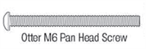 BALUSTRADE M6 SCREW ONLY PAN HEAD #316 STAINLESS STEEL PK4