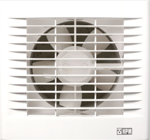HPM EXHAUST FAN WALL HD WHITE SQUARE 150mm