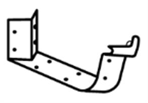 GUTTER - HI FRONT QUAD 115mm CAST ANGLE EXTERNAL 2PCE 90°