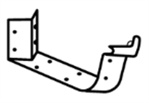 GUTTER - HI FRONT QUAD 115mm CAST ANGLE EXTERNAL 2PCE 45°