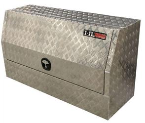 TOOL BOX ALUMINIUM CHECKER PLATE ONE TONNER HD W/- WT LOCK