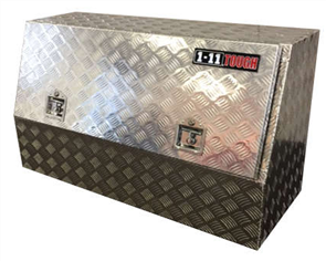 TOOL BOX ALUMINIUM CHECKER PLATE ONE TONNER