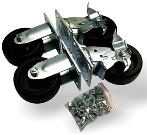 SITE BOX HEAVY DUTY CASTOR SET 127.3mm WHEELS INCLUDES FASTENERS