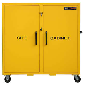 SITE CABINET WITH CASTORS 1496mm