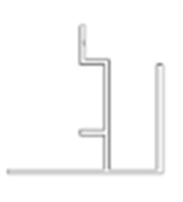 SHADOWLINE (NEW TECHWOOD) WALL CLADDING BOARD ALUM END TRIM POWDER COATED 45 x 35 x 3600mm