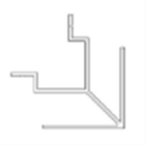 SHADOWLINE (NEW TECHWOOD) WALL CLADDING BOARD ALUM OUTER CORNER TRIM POWDER COATED 35 x 35 x 3600mm