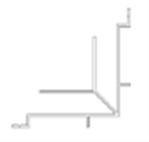 SHADOWLINE (NEW TECHWOOD) WALL CLADDING BOARD ALUM INNER CORNER TRIM POWDER COATED 35 x 35 x 3600mm