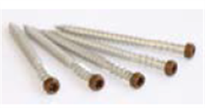 DECKING (NEW TECHWOOD) COLOURED HEAD SCREW (TIMBER FIX) STAINLESS STEEL #304 10G X 65MM PK100