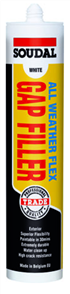 SOUDAL GAP FILLER ALL WEATHER FLEX 300ml WHITE