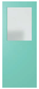 DOOR XF3 DURACOTE SOLICORE CLEAR ½ GLASS