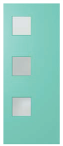 HUME DOOR BFR1 BUSH FIRE RESISTANT DURACOTE (TEMPERED HARDBOARD) GLAZED FROSTED 2040 x 820 x 40mm