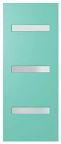 HUME DOOR BFR2 BUSH FIRE RESISTANT DURACOTE (TEMPERED HARDBOARD) GLAZED FROSTED 2040 x 820 x 40mm