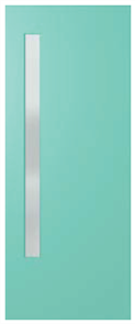 HUME DOOR BFR3 BUSH FIRE RESISTANT DURACOTE (TEMPERED HARDBOARD) GLAZED FROSTED 2040 x 820 x 40mm