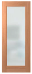 HUME DOOR LIN1 JOINERY SPM (STAIN GRADE) GLAZED CLEAR (with SAFETY DECALS)