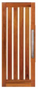 CORINTHIAN DOOR INFINITY INFWS 5VGT MERBAU VENEERED GLAZED TRANSLUCENT