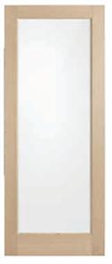 DOOR BLONDE OAK (AWO 21GC) EXTERNAL GLAZED CLEAR 2040 x 820 x 40mm