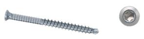 WOOD ELEMENTS ASSY PLUS A4 SS SCREW BLACK ZINC COATED W/- AW20 DRIVER BIT 5.5 x 50mm PK1000