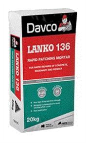 DAVCO (LANKO) RAPID PATCHING MORTAR #136 20kg