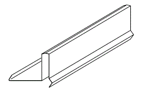 FLASHING - BARGE (GUTTER)