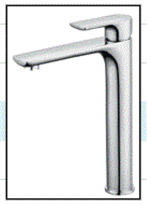 TAP CHROME INSPIRE BASIN MIXER - HIGH RISE
