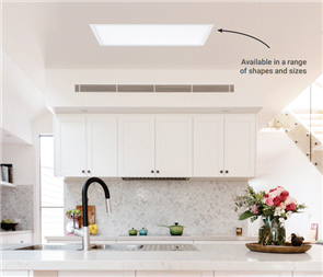 SKYLIGHT ALTERNATIVE ILLUME WHITE FRAME 300 x 600mm
