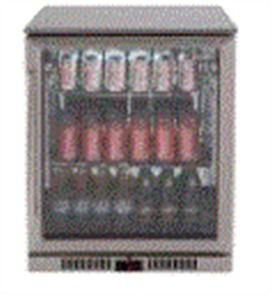 EURO BEVERAGE COOLER 138LT SINGLE DOOR + LOW E GLASS + SPRING BACK DOOR +RIGHT HAND HINGE STAINLESS STEEL FRAME