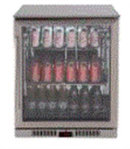 EURO BEVERAGE COOLER 138LT SINGLE DOOR + LOW E GLASS + SPRING BACK DOOR +LEFT HAND HINGE STAINLESS STEEL FRAME