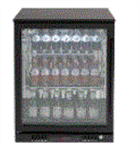 EURO BEVERAGE COOLER 138LT SINGLE DOOR + LOW E GLASS + SPRING BACK DOOR +LEFT HAND HINGE BLACK FRAME