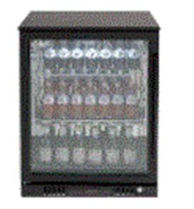 EURO BEVERAGE COOLER 138LT SINGLE DOOR + LOW E GLASS + SPRING BACK DOOR +LEFT HAND HINGE BLACK FRAME