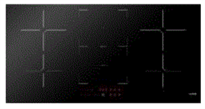 EURO COOKTOP 90CM INDUCTION ELECTRIC CONTROL CERAN GLASS + BOOSTER + FLEXI ZONE BLACK GLASS