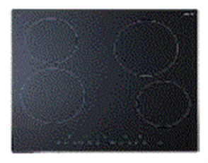 EURO COOKTOP 60CM ELECTRONIC CONTROL CERAN GLASS 4 ZONES BLACK GLASS