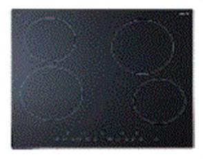 EURO COOKTOP 60CM ELECTRONIC CONTROL CERAN GLASS 4 ZONES BLACK GLASS