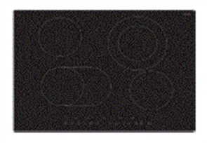 EURO COOKTOP 70CM TOUCH CONTROL CERAN 6 ZONE BLACK GLASS