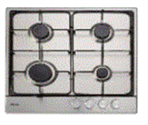 EURO COOKTOP 60CM 4 BURNER GAS  + FFD STAINLESS STEEL