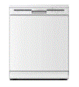 EURO DISHWASHER 4 CYCLE DIGITRONIC CONCEALED ELEMENT  WHITE