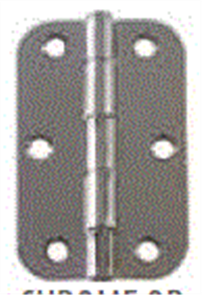 RADIUS HINGE 89 X 75 X 1.6mm LOOSE PIN