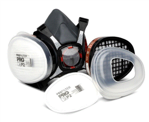 RESPIRATOR TWIN FILTER HALF MASK ONLY
