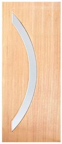 DOOR WOODCRAFT SD01 2040x 920x 40mm SOLID VENEERED SPM GLAZED FROSTED