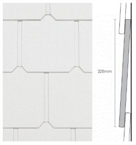 WEATHERTEX SHINGLE CLASSIC PLUS 225 x 9.5 x 1196mm