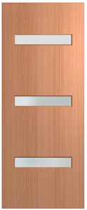 HUME DOOR BFR2 BUSH FIRE RESISTANT (BAL29) (SPM) MAPLE (STAIN GRADE) (BEADING BOTH SIDES) GLAZED FROSTED 2040 x 820 x 40mm