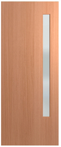HUME DOOR BFR3 BUSH FIRE RESISTANT (BAL29) (SPM) MAPLE (STAIN GRADE) (BEADING BOTH SIDES) GLAZED FROSTED 2040 x 820 x 40mm